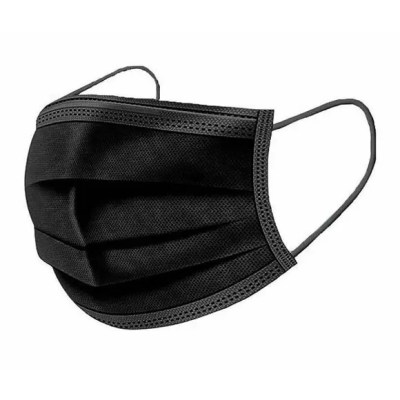 BLACK 3PLY PROTECTIVE FACE MASK