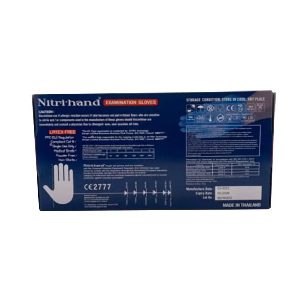 NITRI-HAND NITRILE GLOVE BOX BACK