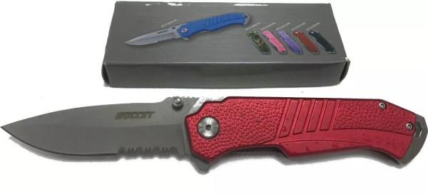Bullet Spring Assist Knife, Red-0