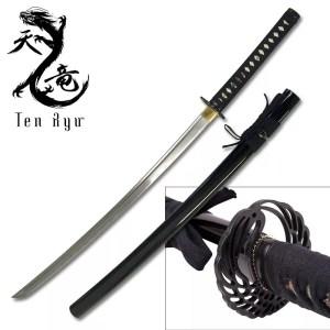 Ten Ryu Handmade Samurai Sword with Crane Design-0