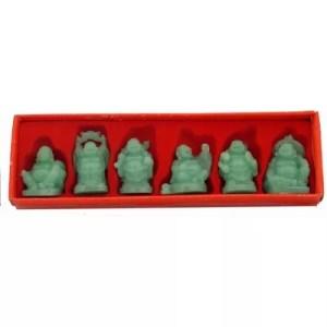 Buddha, set of 6, Jade color-0