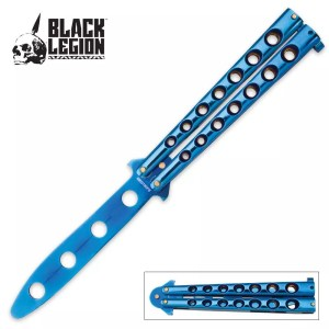 Balisong (Butterfly) Trainer, Blue -0