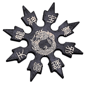 Rubber Throwing Stars, 8 Point-0