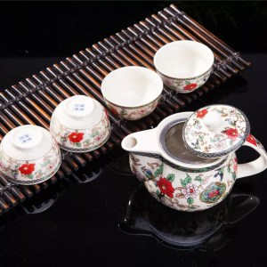 Birds & Flowers Tea Set-0