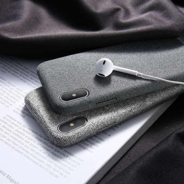 iPhone X 6S 7 8 Plus Cloth Patterned Case Simple Vintage Business Case