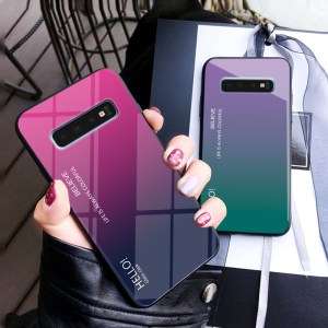 Samsung Galaxy S10e S10 Plus S8 S9 Note 8 9 S7 Edge A5 A8 A6 J8 2018 A7 Gradient Tempered Glass Phone Cases