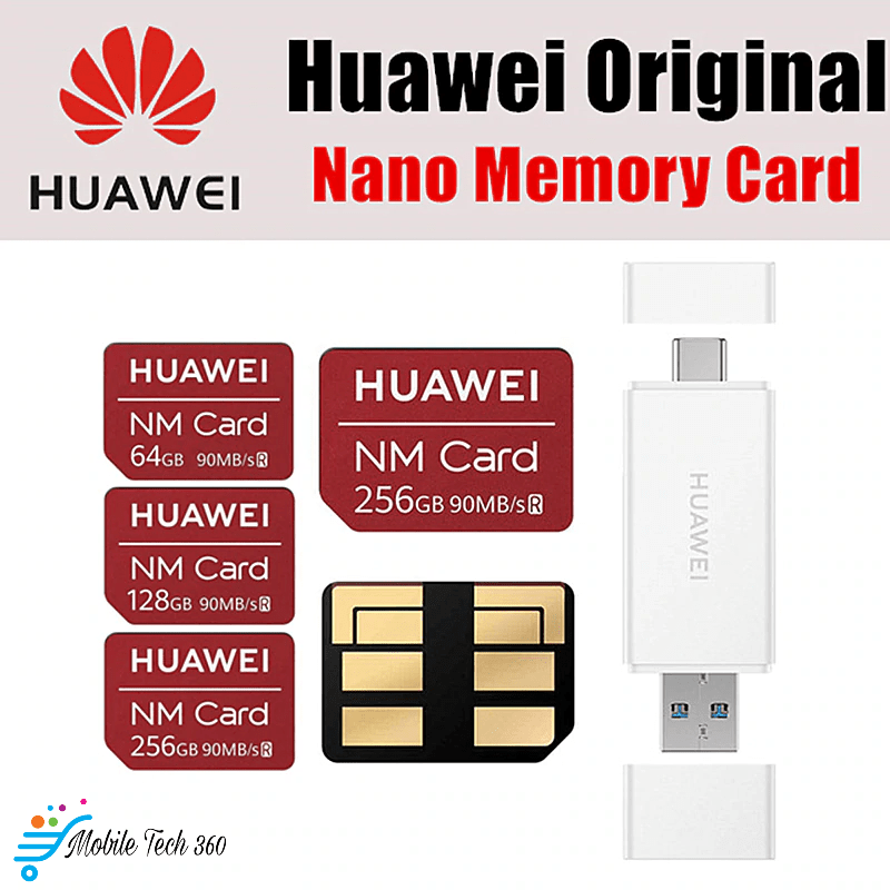 Huawei NM Card Original 90MB/s 64GB/128GB/256GB for Huawei Mate 20 Pro,  Mate 20X With USB 3 1 Nano Memory Card Reader - Mobile Tech 360