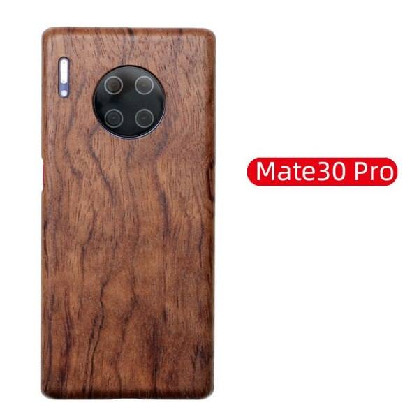 Natural Wooden Phone Case for Huawei Mate 30 Pro, Mate 30 Black ice wood , Rosewood