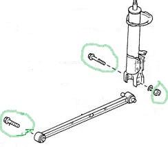 Mercury Capri Rear Trailing Arm Nut and Bolt Set / Capri