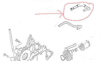 Mercury Capri XR2 / TURBO OIL COOLANT HOSE / Capri XR2