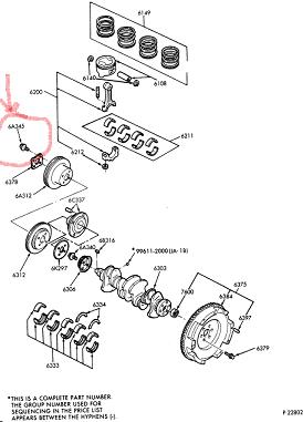 Mercury Capri Crankshaft Bolt / Mercury Capri Harmonic