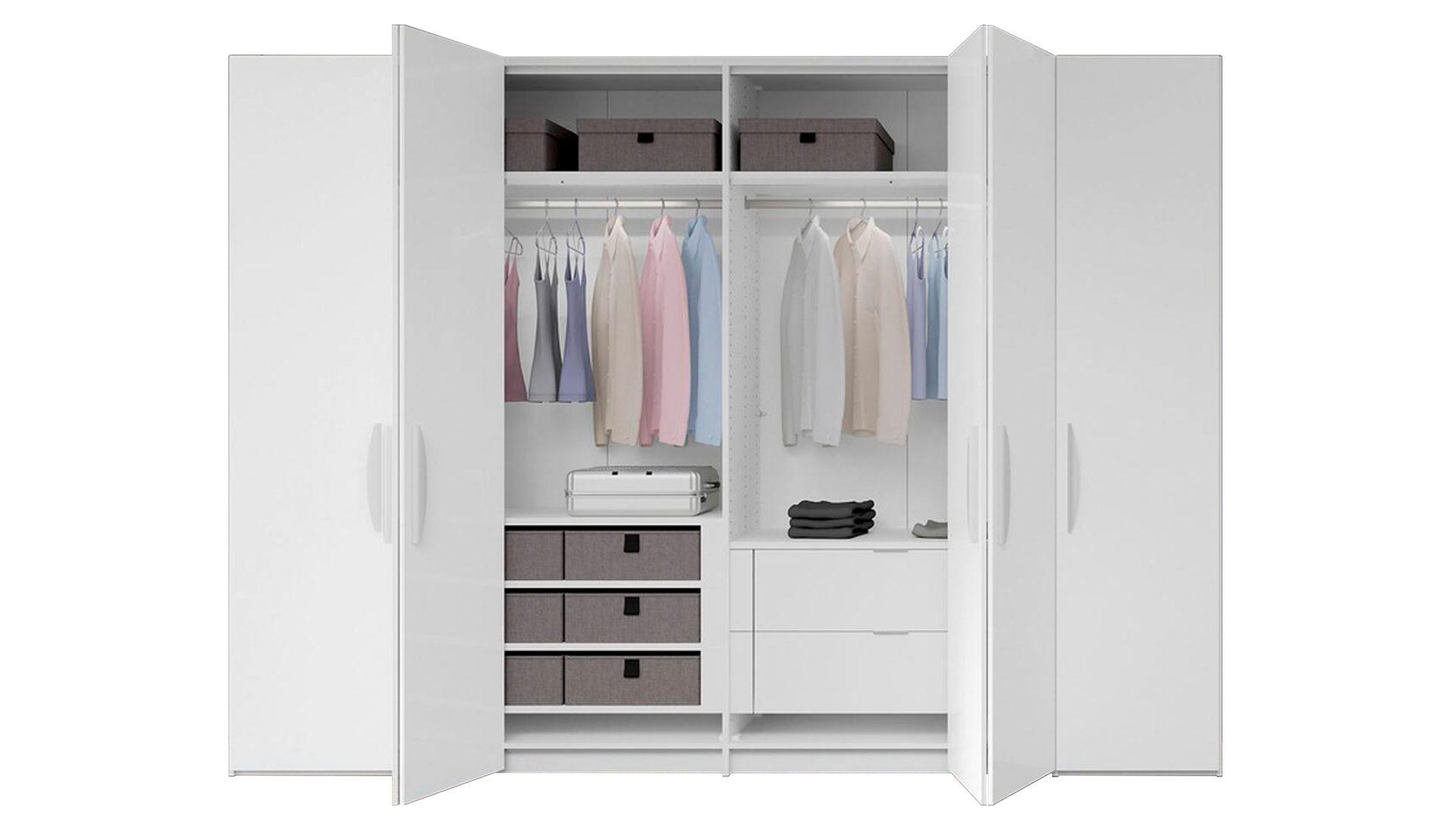 Schlafzimmerschrank Weiß Holz Kleiderschrank Design Holz