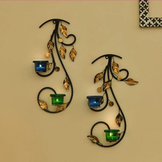 Wall Hanging Leafy Vine Candle Stand