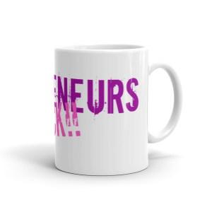 'Mompreneurs Rock' Mug (Purple/Pink)