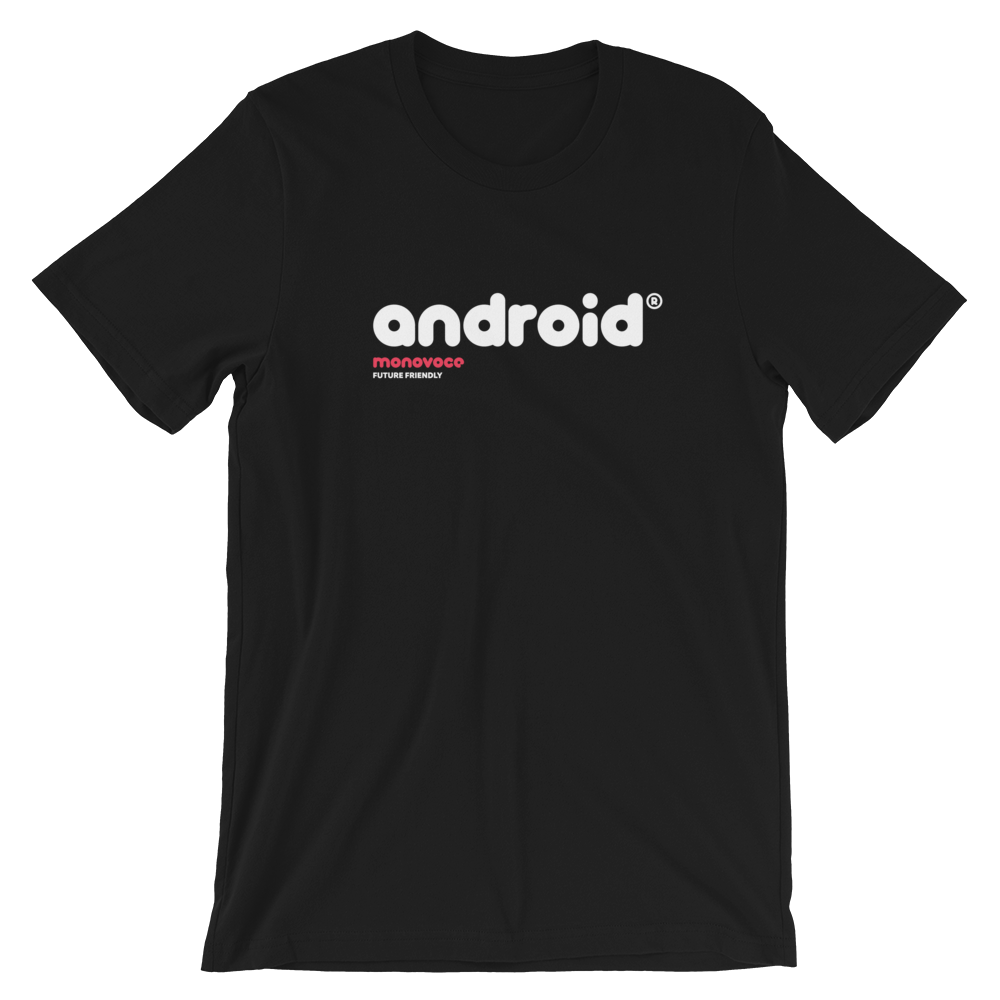 Android t-shirt for men in black
