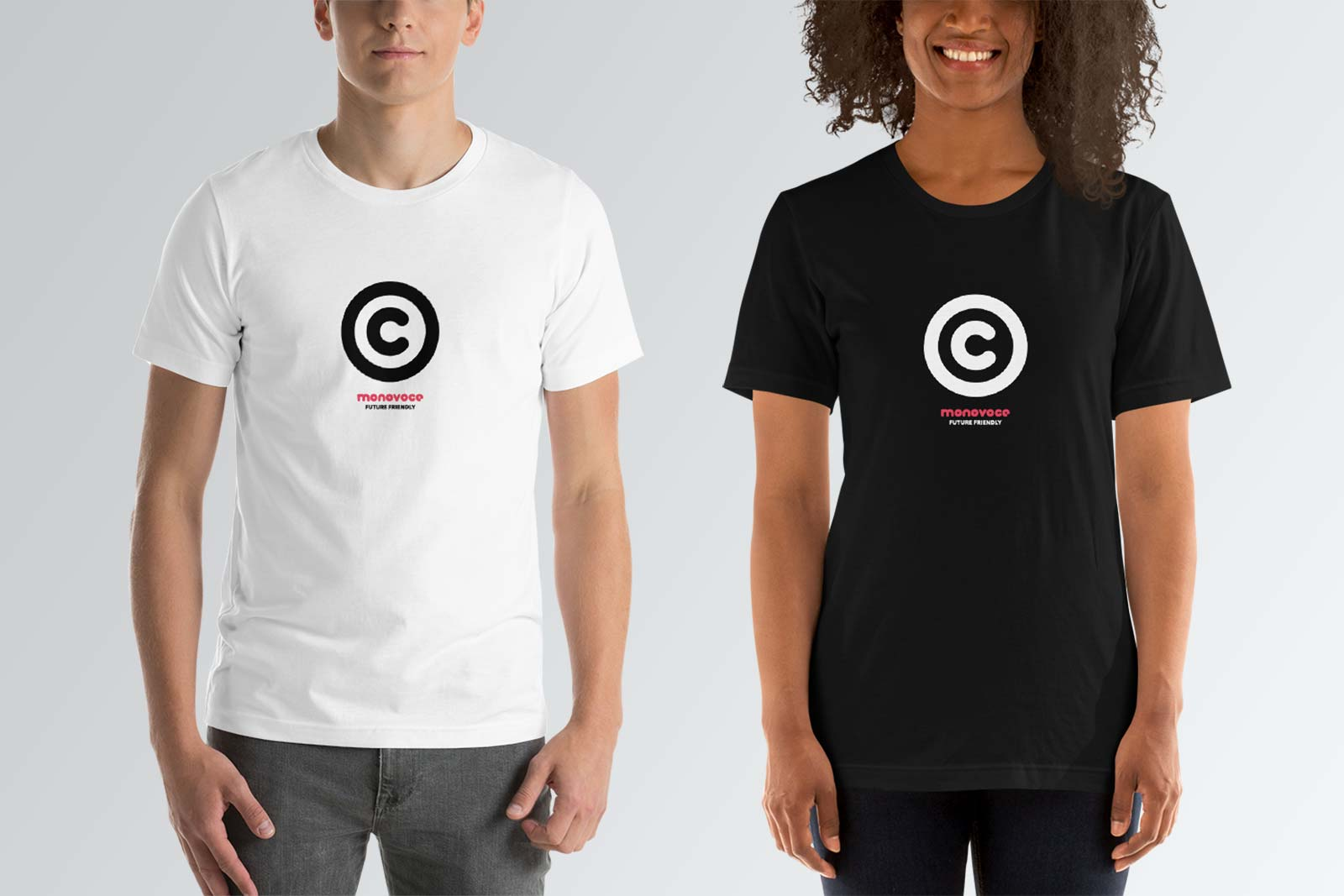Copyright t-shirt for men in black and white