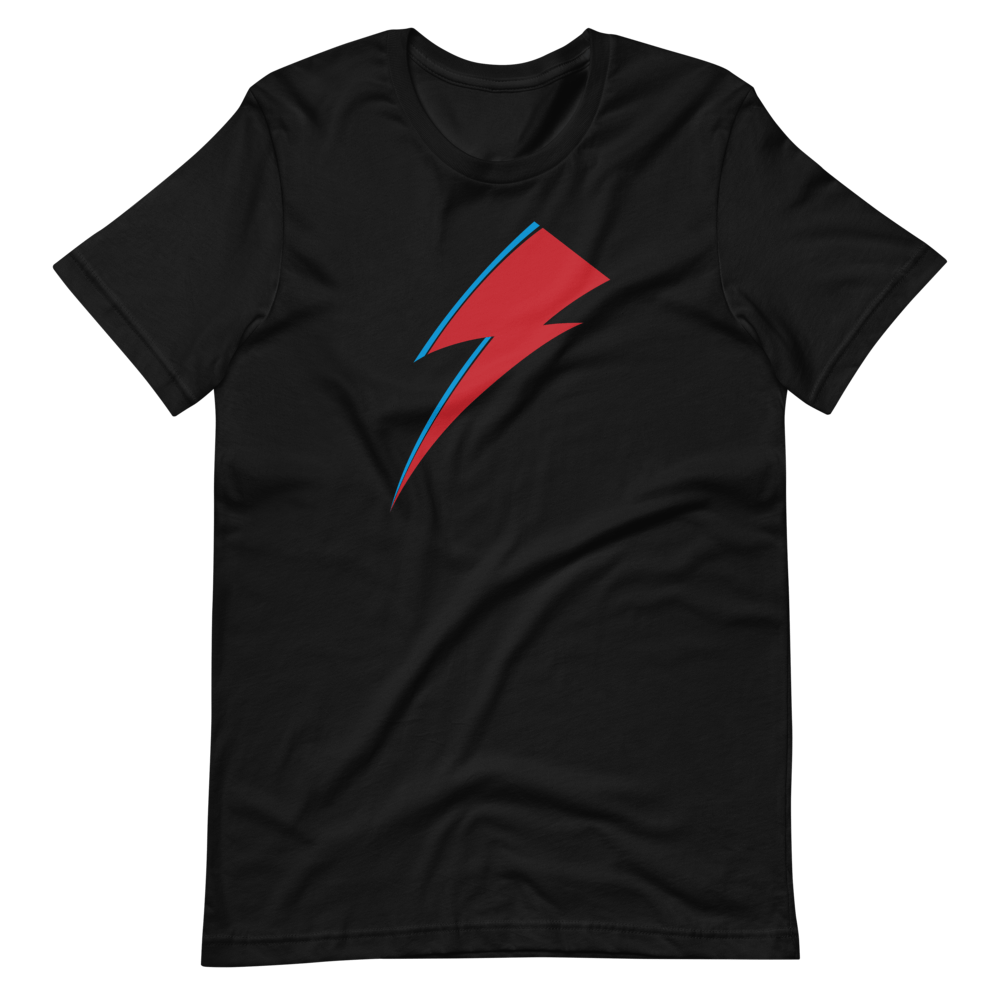 Aladdin Sane Lightning Bolt Black T-shirt
