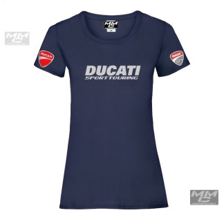 ST-Ducati T-shirt Donkerblauw Lady-fit