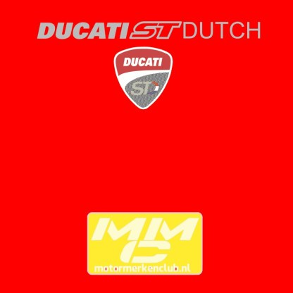 ST-Ducati T-shirt Rood Lady-fit
