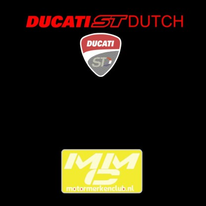 ST-Ducati T-shirt Zwart Lady-fit
