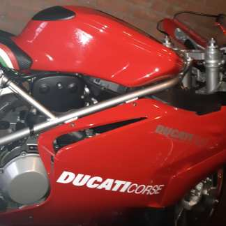 Ducati Corse sticker, wit.