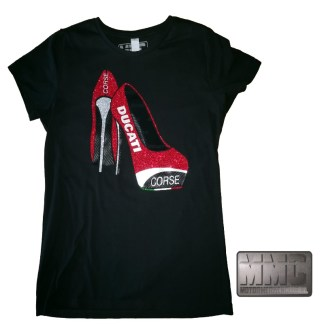 Ducati Corse High Heels T-shirt Lady-Fit