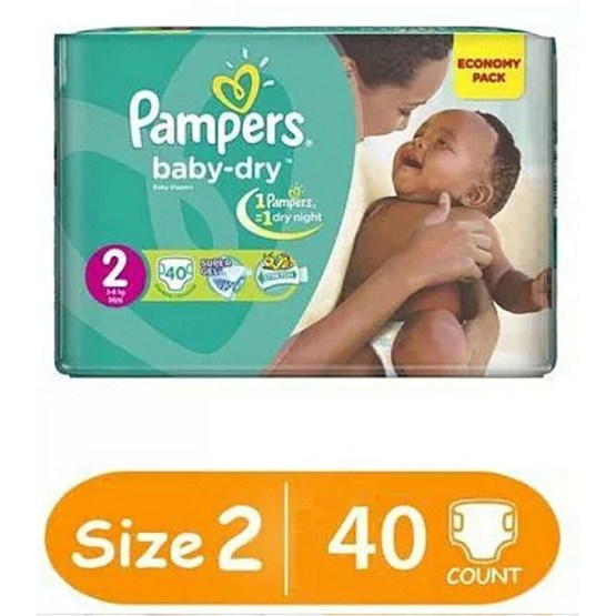Pampers Diapers Size 2, 40 Count