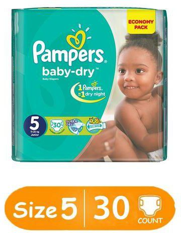 Pampers Size 5 Junior 30 Count