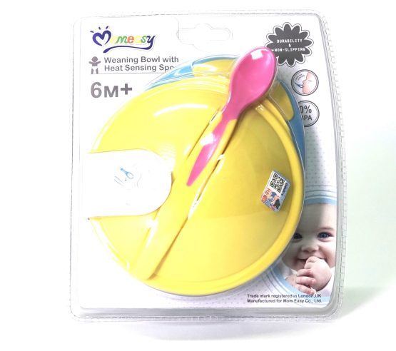 MomEasy 1 Bowl with Heat Sensing Spoon with Lid