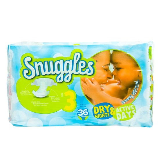 Snuggles Diapers Midi Size 3 – 36 Count