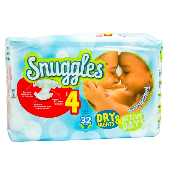 Snuggles Diapers Maxi Size 4- 32 Count