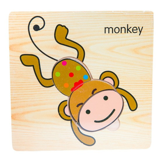 Small Wooden Puzzle – Monkey