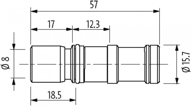 MODL. VARIO insert for coupling housing type B at