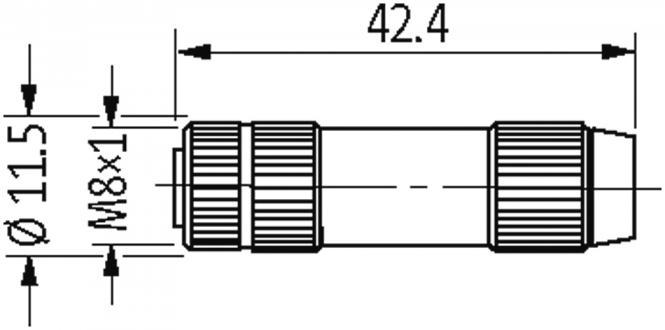 MOSA M8 FEMALE 0° FIELD-WIREABLE (IDC) at Murrelektronik