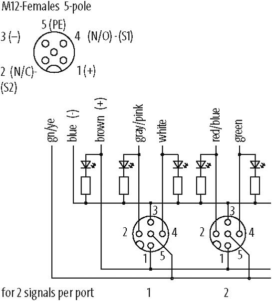 EXACT12, 8XM12, 5-POLE, MOULDED CABLE at Murrelektronik