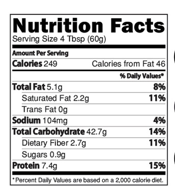 Instant Rice Khichdi Powder with Moong Dal Nutrition Facts