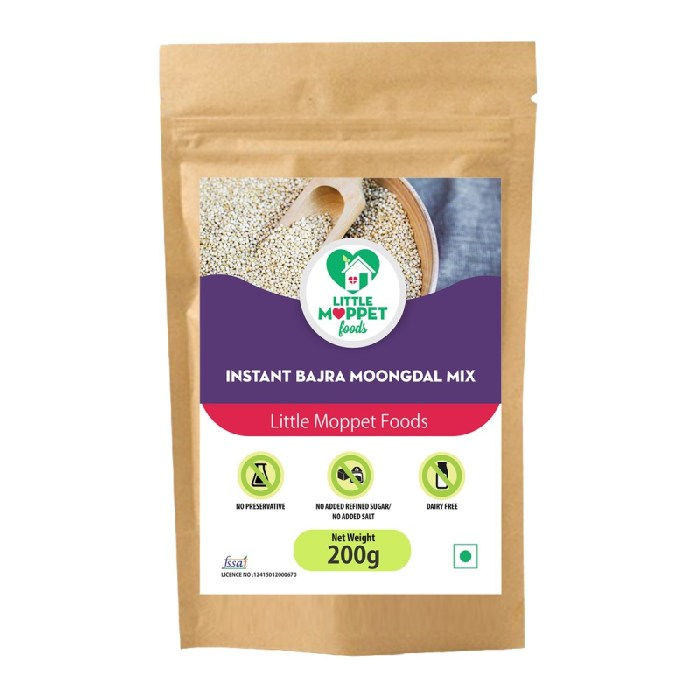 Instant Bajra Moongdal Powder is a fiber rich baby meal, loaded with vitamins and minerals for the overall development of little ones.