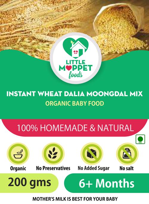 buy Little Moppet Foods instant wheat dalia moongdal porridge powder for babies online india