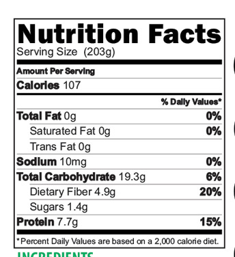 Millet Sathumaavu Mix Nutrition Facts