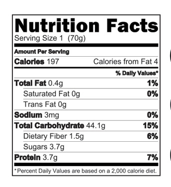 Banana Rice Cereal Nutrition Facts