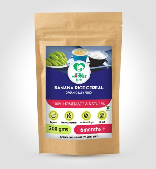 buy Little Moppet Foods Banana Rice Cereal Online India