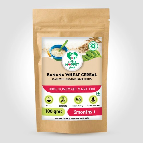 Banana Wheat Cereal is a weight gaining cereal, with the combination of fiber-rich and nutritious whole grains and fruits.