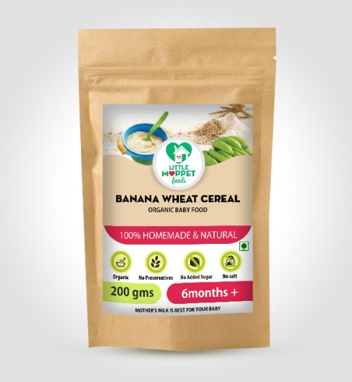 buy Little Moppet Foods Banana Wheat Cereal online India