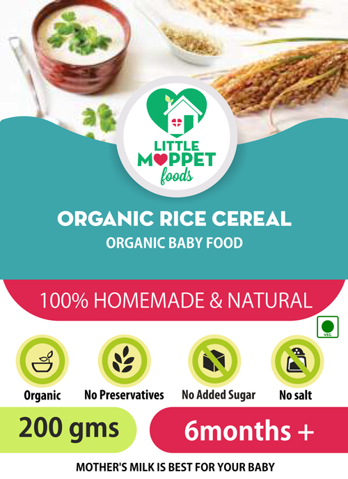 Little Moppet Foods Organic Rice Cereal online India