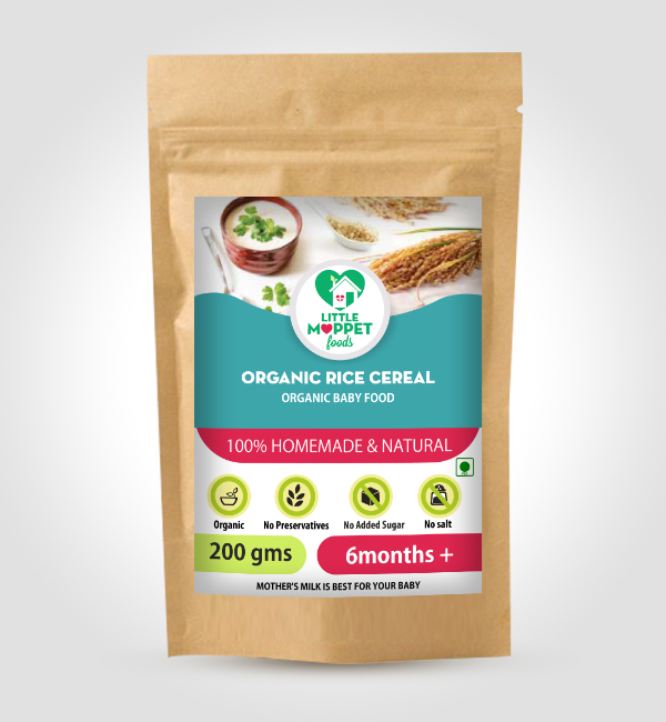 buy Little Moppet Foods Organic Rice Cereal online India