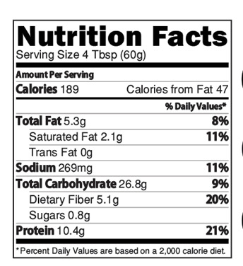 Instant Wheat Dalia Moongdal Mix Nutrition Facts