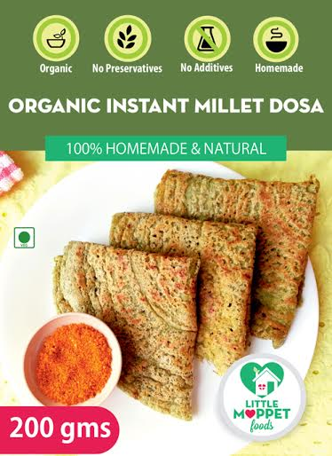 Little Moppet Foods Organic Instant Millet Dosa 1