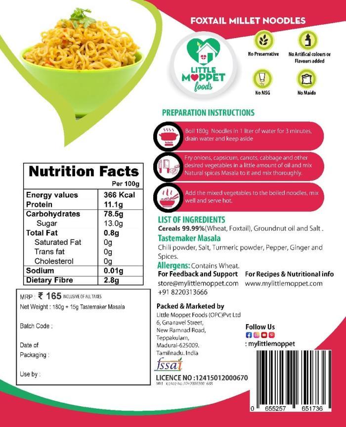Foxtail(Thinai) Noodle