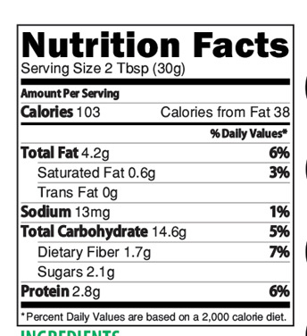 Banana Multigrain Health Drink Nutrition Facts