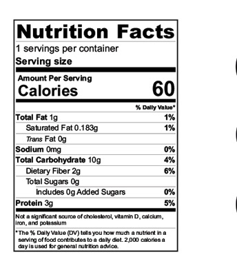 Quick Oats Cereal Nutrition Facts